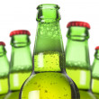 Row of beer bottles — Stock Photo #11017621