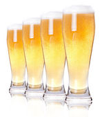 Cristal escarchado de cerveza light — Foto de Stock
