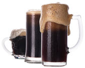 Frosty glass of beer isolated — Stock Photo