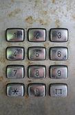 Old phone keypad numbers — Stock Photo