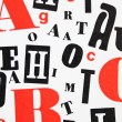 Stock Photo: Red black white - mixture of letters