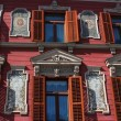 Decorated facade - maribor main square — Stock Photo