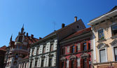 Maribor main square - facades — Stock Photo