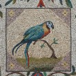 Постер, плакат: Parrot mosaic Vatican gardens Rome