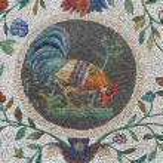Постер, плакат: Cock mosaic Vatican gardens Rome