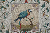 Parrot mosaic - Vatican gardens, Rome — Stock Photo