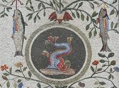 Fish mosaic - Vatican gardens, Rome — Stock Photo