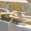 Stock Photo: Rope detail on boat