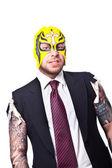 Wrestler Businessman 3 — Stock Photo