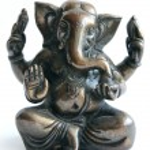 Figurine. Ganesha. Indian deity — Stock Photo #11813350