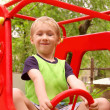 Stock Photo: Child Boy playing on Playground