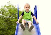 Boy Child playing in Park — Stock Photo