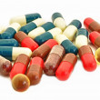 Stock Photo: Capsule Pills Medicine in heap