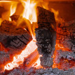 Stock Photo: Fireplace with flame
