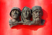 Russian Memorial Soldier Family - Historical — Stock Photo