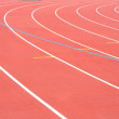 Track Running stadium — Stock Photo