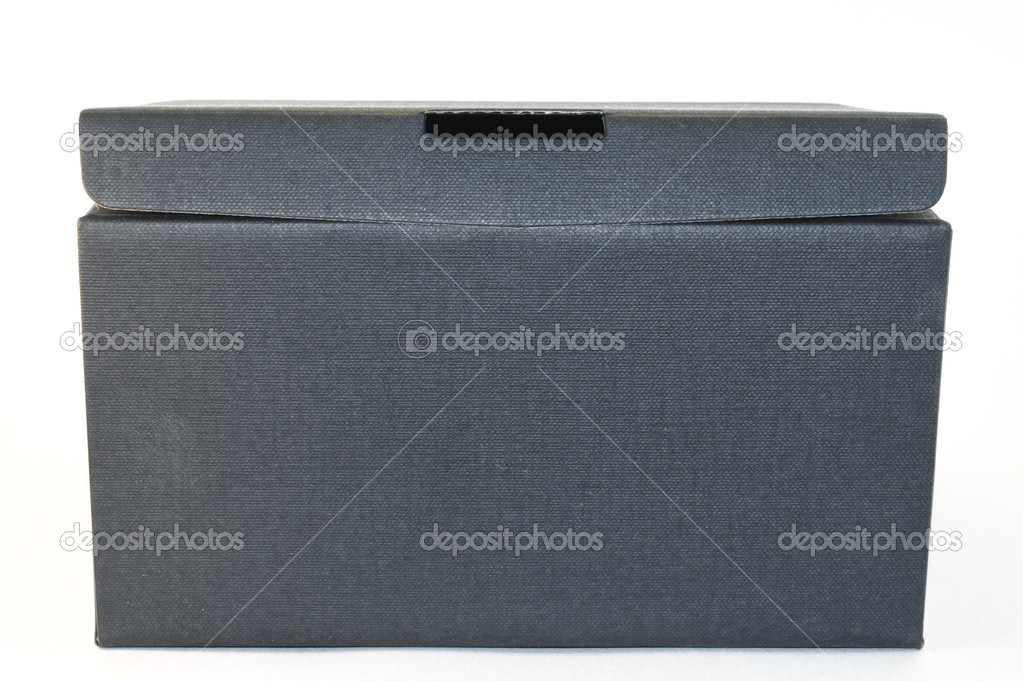 Box textured black isolated on white background  Stock Photo #11043939