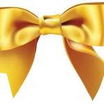 Yellow bow — Stock Vector