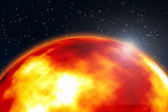 Planet of fire — Stock Photo
