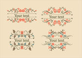 Calligraphic elements vintage set — Stock Vector