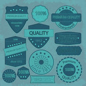 Grunge label template set — Stock Vector