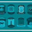 Decorative Nautical Set — Stock Vector #11943120