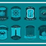 Decorative Nautical Set — Stock Vector