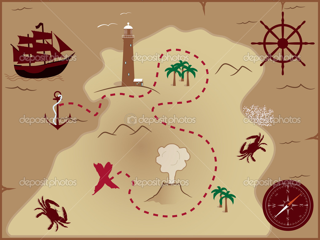 Jake and the neverland pirates treasure map