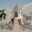 Stock Photo: Wat Rong Khun, city of Chiang Rai, Thailand view from bridge