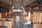 Empty interior public bus in Thailand — Stock Photo