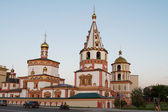 Phenomenon of the Lord Cathedral (Cathedral of the Epiphany) in Irkutsk — Foto de Stock