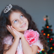 Happy little girl dressed as a princess — Stock Photo #10816151