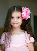 Happy little girl dressed as a princess — Stock Photo