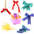 Set of colorful gift bows with ribbons. — Stock Photo