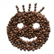 Royalty-Free Stock Photo: Smile shaped coffee beans isolated on white background