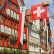 Stock Photo: Appenzell, Switzerland, Hauptgasse street
