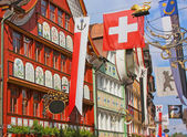 Appenzell, Switzerland, Hauptgasse street — Stock Photo