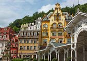 City centre of Karlovy Vary,Czech Republic — Stock Photo
