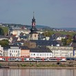 On the banks of the Rhine river,Germany - Stock Photo