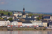 On the banks of the Rhine river,Germany — Stock Photo