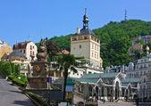 City centre of Karlovy Vary,Czech Republic — Stock Photo