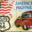 Route 66 sign - Stock Photo