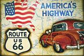 Segno di route 66 — Foto Stock