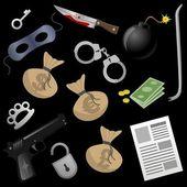 Gangster tools vector — Stock Vector