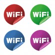 Wifi icon stickers - Stock Photo