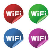 Wifi icon stickers — Stock Photo