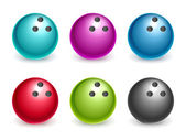 Variety of colored balls isolated on white background — Stock Photo