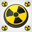 Radiation Round Sign - Stock Vector