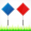 Set of vector road signs - Vettoriali Stock