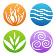 Symbols of four elements vector — Stock Vector #10965116